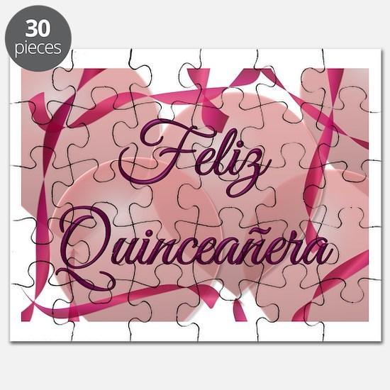 Feliz Quinceanera - Happy 15th Birthday Puzzle
