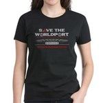 Women's Dark T-Shirt with Front and Back Logo