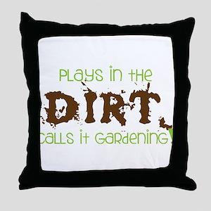 Dirty Dirt Throw Pillow
