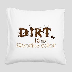 My Favorite Color Square Canvas Pillow