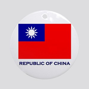 The Republic Of China Flag Gear Ornament (Round)