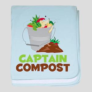 Captain Compost baby blanket