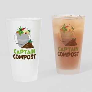 Captain Compost Drinking Glass