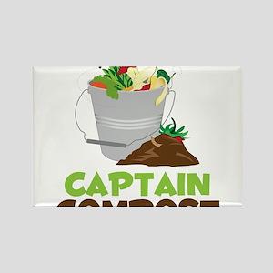 Captain Compost Rectangle Magnet