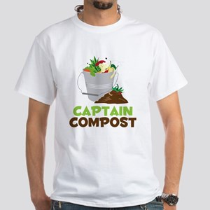 Captain Compost White T-Shirt
