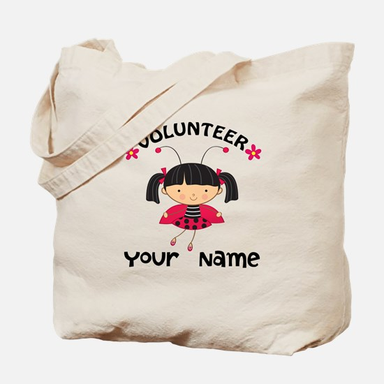 Personalized Volunteer Librarian Tote Bag