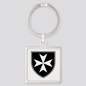 Knights Hospitaller Square Keychain