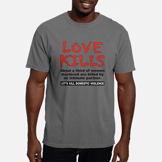 DV Love Kills 1 light.pn Mens Comfort Colors Shirt