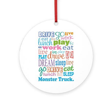 Monster Truck Ornament (Round)
