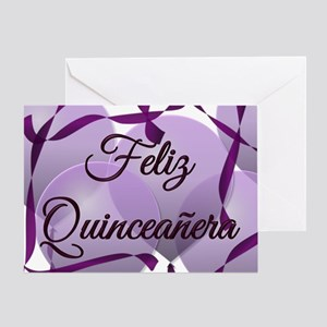 Quinceanera greeting cards cafepress feliz quinceanera happy birthday greeting card bookmarktalkfo Gallery