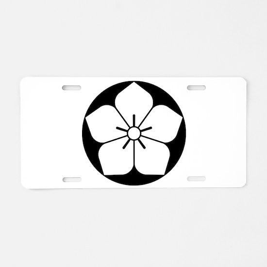 Balloon flower in rice cake Aluminum License Plate