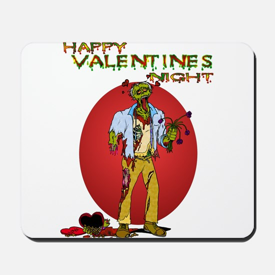 Zombie Valentines Day Mousepad