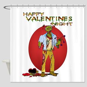 Zombie Valentines Day Shower Curtain