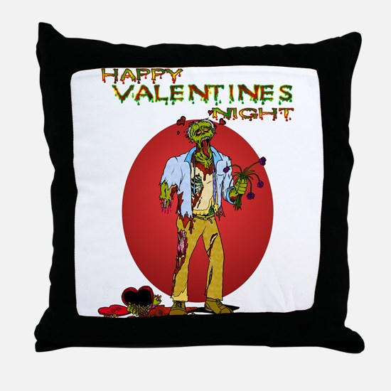 Zombie Valentines Day Throw Pillow