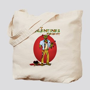 Zombie Valentines Day Tote Bag