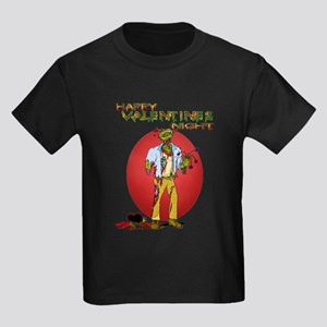Zombie Valentines Day Kids Dark T-Shirt