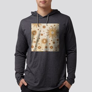 Snowflakes golden Mens Hooded Shirt