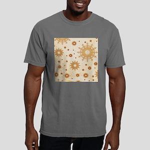 Snowflakes golden Mens Comfort Colors Shirt
