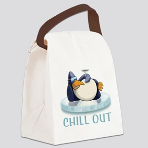 Chill Out Penguin Canvas Lunch Bag