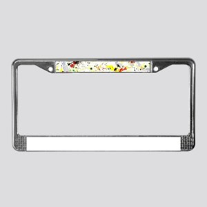 Paint Splatter License Plate Frame