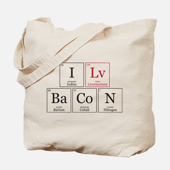 I Lv BaCoN [I Love Bacon] Tote Bag