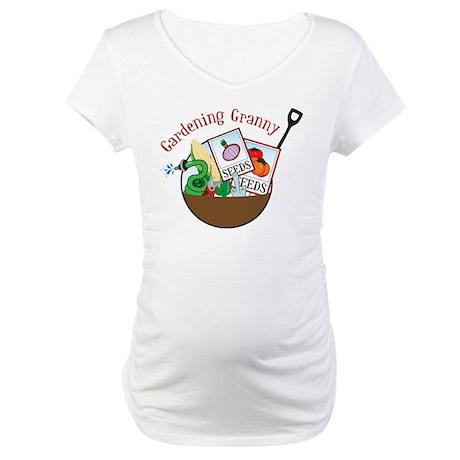 Gardening Granny Maternity T-Shirt
