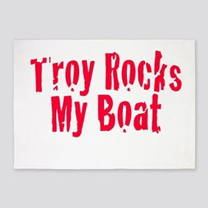Troy Rocks My Boat 5'x7'Area Rug