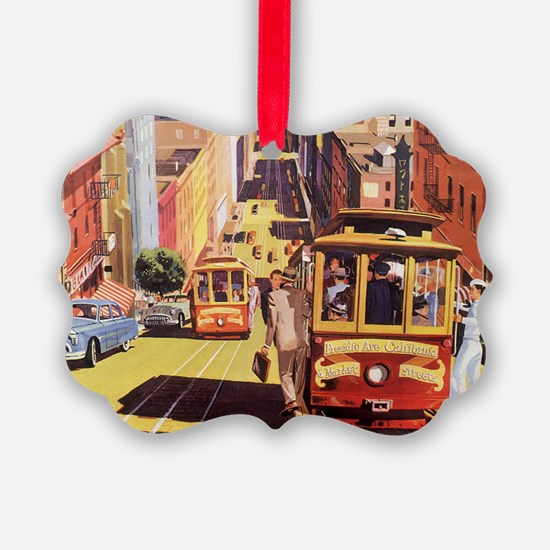 Cute Cable car Ornament