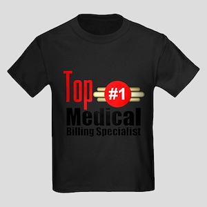 Top Medical Billing Specialist Kids Dark T-Shirt