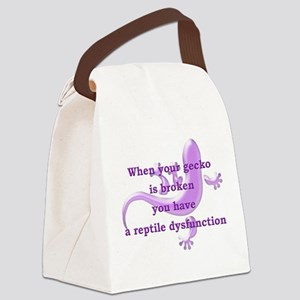 Reptile Dysfunction Canvas Lunch Bag
