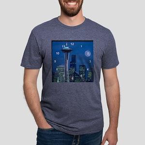 Seattle 2 clock Mens Tri-blend T-Shirt