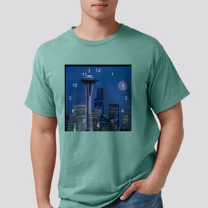 Seattle 2 clock Mens Comfort Colors Shirt