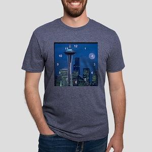Seattle 2 clock 2 Mens Tri-blend T-Shirt