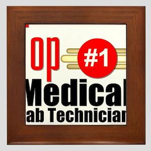 Top Medical Lab Technician Framed Tile