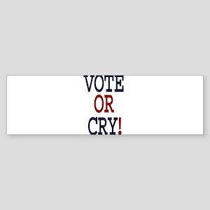 voteorcryflat Bumper Sticker
