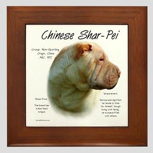 Chinese Shar-Pei Framed Tile