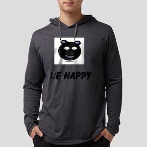 be HAPPY Mens Hooded Shirt