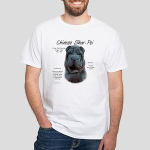 Shar-Pei (blue) White T-Shirt