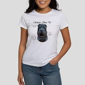 Shar-Pei (blue) Women's Classic White T-Shirt
