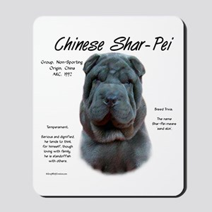 Shar-Pei (blue) Mousepad