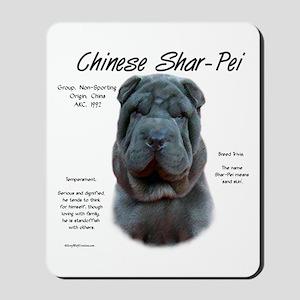 Shar-Pei (blue) Mousepad