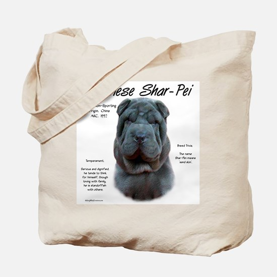 Shar-Pei (blue) Tote Bag