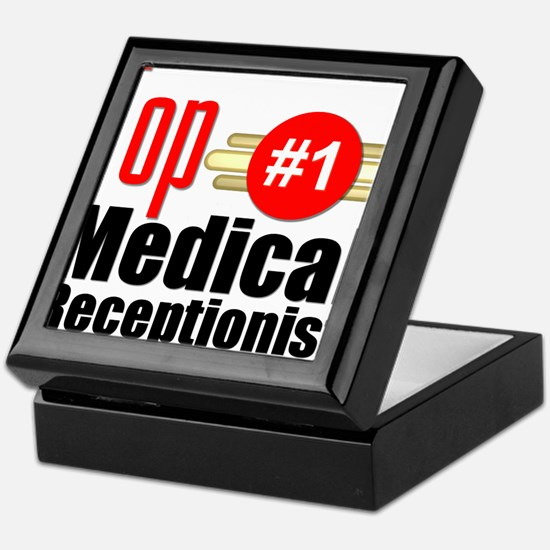 Top Medical Receptionist Keepsake Box