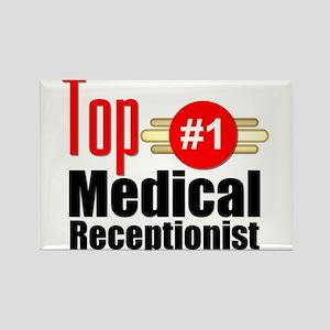 Top Medical Receptionist Rectangle Magnet
