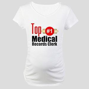 Top Medical Records Clerk Maternity T-Shirt