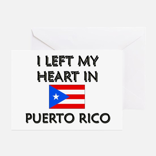 I Left My Heart In Puerto Rico Greeting Cards (Pac