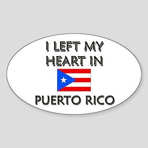 I Left My Heart In Puerto Rico Oval Sticker
