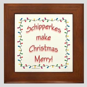 Merry Schipperke Framed Tile