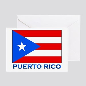 Puerto Rico Flag Gear Greeting Cards (Pk of 10