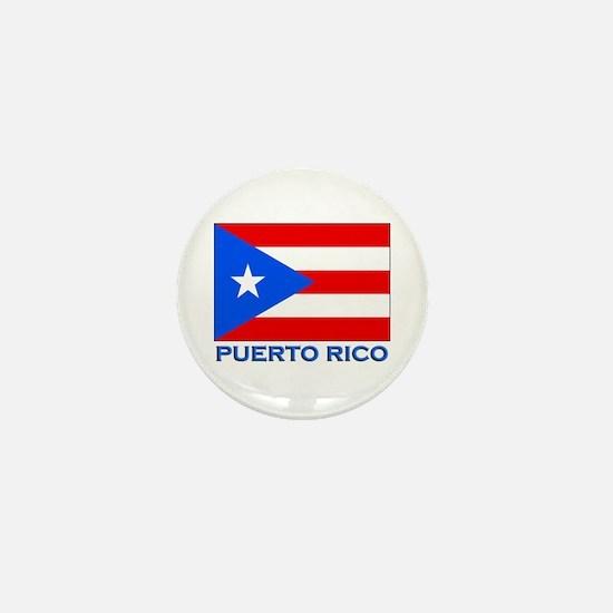Puerto Rico Flag Gear Mini Button